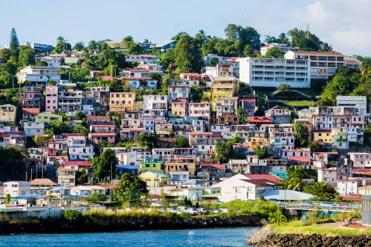 island, sea, coastal, coast, town, travel, holiday, summer, port, village, building, tourist, beach, architecture, colorful, blue, sky, scenic, house, boat, tourism, water, vacation, martinique, landscape