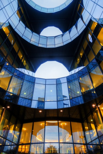 uk, windows, pwc, pricewaterhousecoopers, london, european, landmark, night, light, evening, building, modern, window, britain, futuristic, england, architecture, city, great, dawn, office, europe, facade