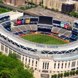 stadium, aerial, usa, ballpark, travel, bronx, new, field, parking, york, major, baseball, architecture, color, city, yankee, outdoors, home, sky, nyc, image, sport, league, american