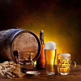 drink, alcoholic, brewed, brewing, barrel, pub, ale, white, wheat, tap, lager, cold, mug, bar, light, drink, hops, gold, woode