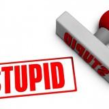 stupid, dumb