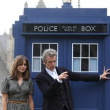 who, dr, coleman, jenna, bbc, london, pose, fans, capaldi, tv, peter