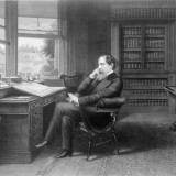 writer, english, literature, dickens, historical, charles, history, portrait, 1870s, century, author, england,author, 19th