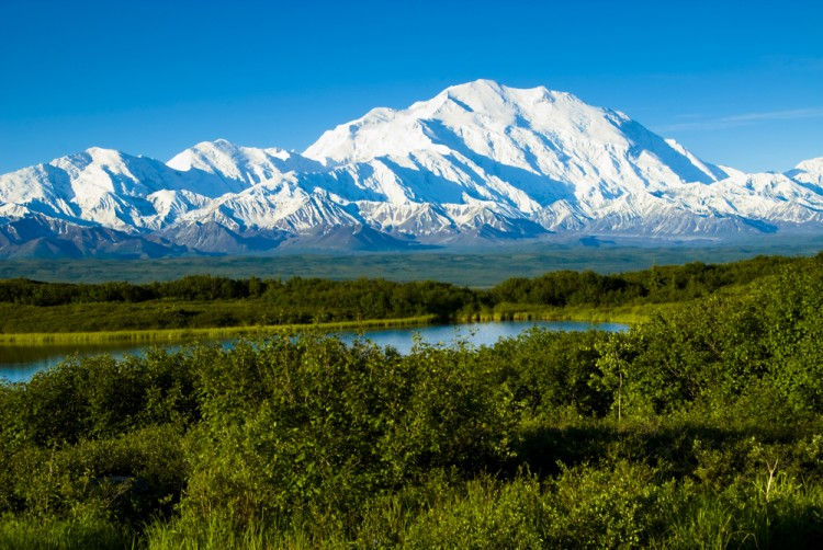 mckinley, mount, denali, alaska, view, alaskan, snow, outdoor, cold, america, park, river, north, lake, range, mountainous, mt., reflection, wind, winter, wilderness 11 Tallest Mountains in North America