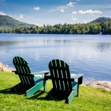 new, lake, york, chairs, tree, chair, shore, two, deck, autumn, travel, serenity, calm, rock, upstate, seats, calmness, scenery, summer, outside, adirondack
