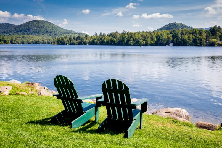 new, lake, york, chairs, tree, chair, shore, two, deck, autumn, travel, serenity, calm, rock, upstate, seats, calmness, scenery, summer, outside, adirondack, The 11 Best Places to Stay in Upstate New York