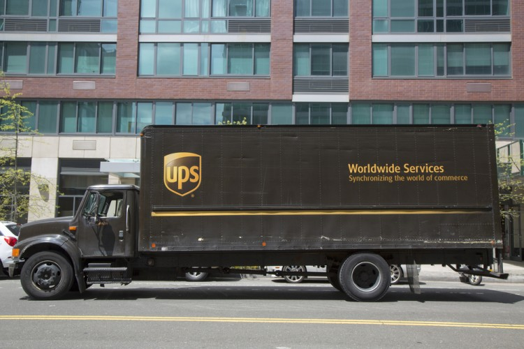 parcel, downtown, delivery, post, america, usa, truck, national, worldwide, courier, north, travel, business, brown, new, logistic, fleet, commercial, postal, deliver, service, york,