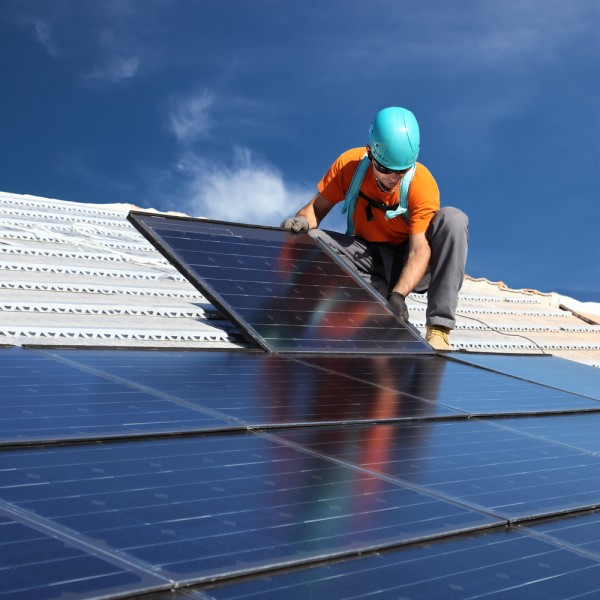 solar, panel, power, roof, roofer, home, green, building, electricity, worker, renewable, alternative, work, generator, business, rooftop, man, array, smiling, hardhat, grid,