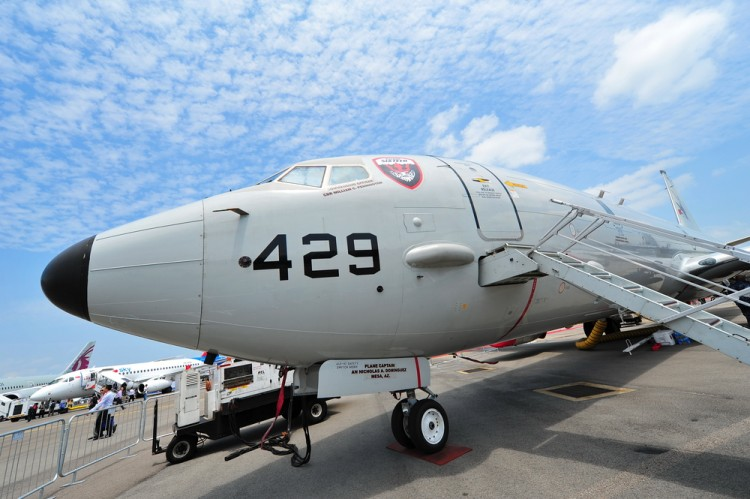poseidon, boeing, warfare, biennial, submarine, navy, show, military, defense, commercial, singapore, jet, event, technology, asia, airshow, exhibition, mission, p-8,