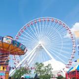 park, theme, wheel, coaster, fun, fair, fairground, youth, around, carousal, vibrant, horse, amuse, roller coaster, ride, old fashioned, theme park, swings, skyline, summer,