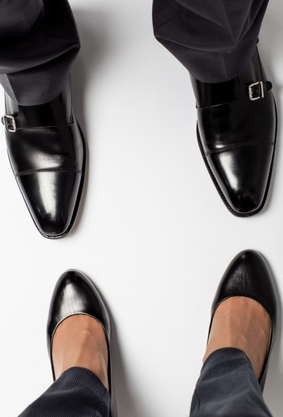 foot, business, concept, suit, executive, businesswoman, closeup, human, floor, unrecognizable, white, pair, corporate, pose, adult, stand, workout, male, versus, footwear, 11 Jobs Women Will Never Be Able To Do Better Than Men