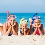 beach, closeup, goggles, leisure, children, fun, activity, tropical, seaside, travel, recreational, boy, diving, sand, happiness, sister, active, summer, kids, details, people, sun,