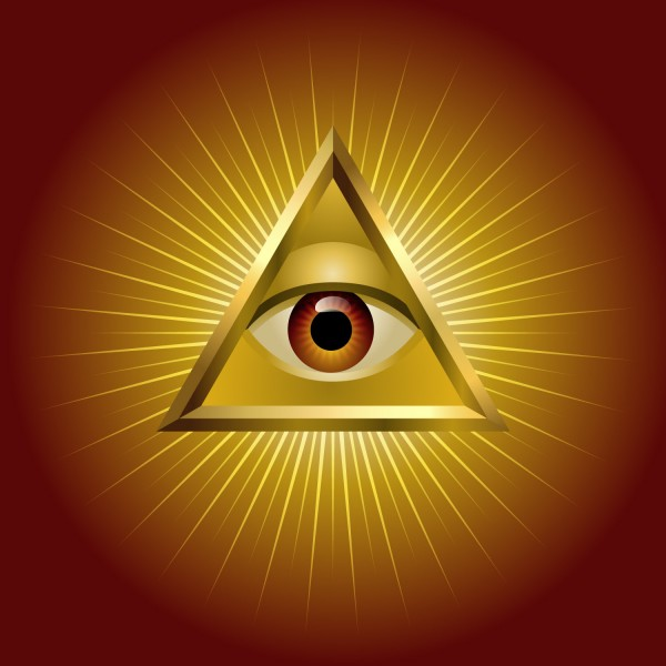 eye, pyramid, all, egyptian, illuminati, vector, gold, rays, horus, golden, order, god, sun, freemasonic, new, freemason, world, secret, self, light, symbolic, power, 7 Theories About the Illuminati and the New World Order
