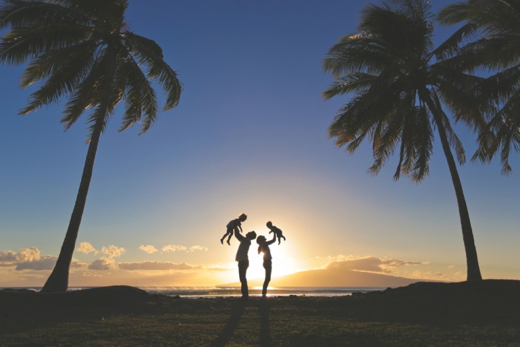 maui, island, fun, hawaiian, oahu, outdoor, tree, kauai, parenthood, happiness, summer, people, sun, father, paradise, portrait, parents, four, family, lifestyle, young, beach,11 Best Places to Visit in USA for Families