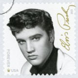 presley, musician, commemorative, delivery, square, post, usa, roll, elvis, stamp, white, rock, music, shipping, perforated, history, guitarist, star, postal, legend, service,