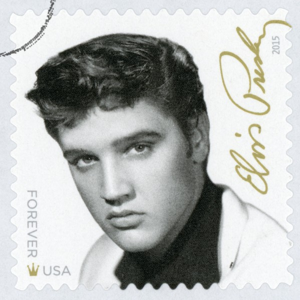 presley, musician, commemorative, delivery, square, post, usa, roll, elvis, stamp, white, rock, music, shipping, perforated, history, guitarist, star, postal, legend, service,6 Elvis Presley Conspiracy Theories