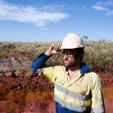 australia, mining, australian, iron, ore, outdoor, commodity, assay, sedimentary, natural, native, pilbara, earth, secluded, red, field, camp, horizon, drill, hammer, drilling,