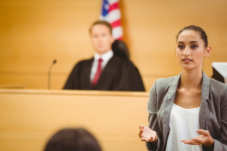 lawyer, court, courtroom, america, on, statement, view, legal, day, lawsuit, adult, talking, male, frowning, female, foreground, system, front, robes, of, woman, unsmiling, 11 Cities With The Highest Demand for Lawyers