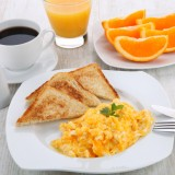 toast, dish, meal, fried, coffee, scrambled, egg, breakfast, orange, traditional, nutrition, food, plate, delicious, tomato, lunch, appetizing, fresh, meat