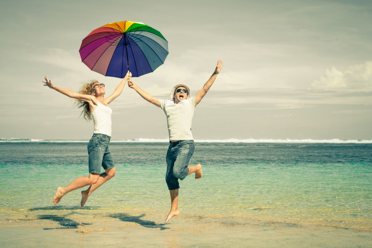 umbrella, beach, flying, young, girl, jumping, fun, travel, boy, summer, ocean, leisure, two, tropical, day, happiness, success, holiday, friendship, walking, active, playing, 25 Countries with the Best Quality of Life in the World