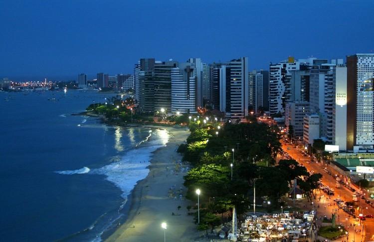 brazil, beach, coastal, coast, travel, skyline, city, buildings, sea, water, nightlife, landscape, ocean