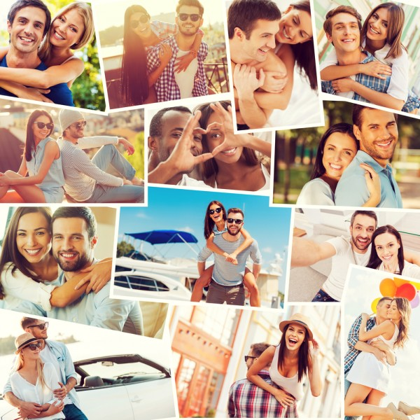 love, montage, ethnicity, bonding, embracing, adult, male, casual, digital, people, black, smiling, positive, expressing, youth, of, emotion, face, men, group, making,11 Most Faithful States in America