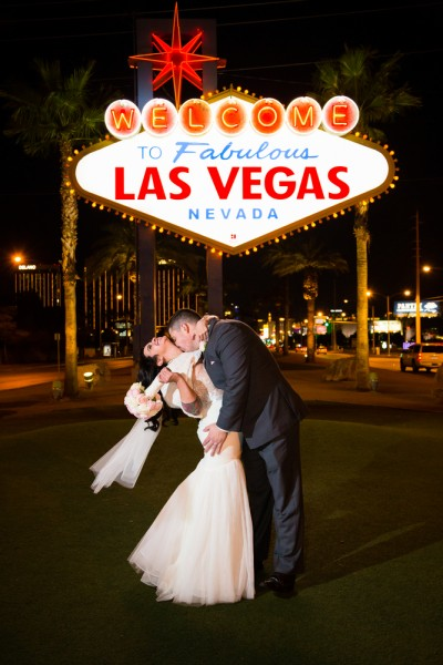 bride, couple, editorial, fabulous, groom, kiss, las, love, marriage, married, nevada, only, sign, to, travel, use, vegas, wedding, welcome, 11 Best Places to Get Married in Las Vegas
