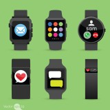 fitbit, vector, iwatch, watch, icon, pebble, green, email, business, mac, symbol, black, technology, touch, love, computer, illustration, time, mobile, weather, electronic, work,