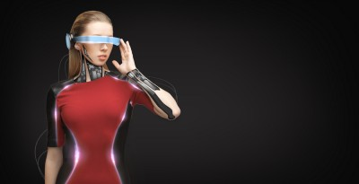 glasses, girl, advertisement, human, techno, implant, sensor, technological, fiction, copy, innovation, future, blank, advert, augmented, tech, copyspace, identification,