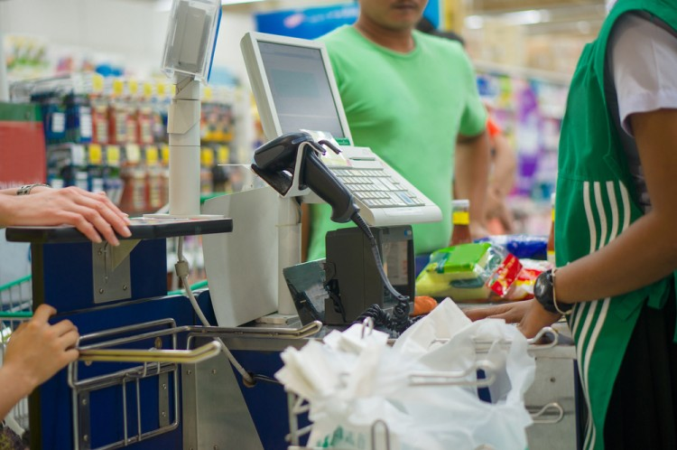 cashier, supermarket, checkout, receipt, pos, market, department, pay, mall, attractive, buy, retail, transaction, service, discount, plastic, card, assortment, shelf, computer,