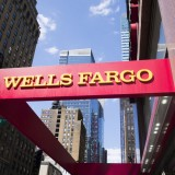 fargo, nobody, horizontal, sign, wells, bank, logo, cityscape, photography, new, york, manhattan, up, city, looking