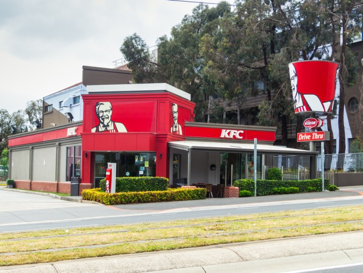 kfc, australia, hill, australian, take, fried, retail, unhealthy, red, fatty, business, chicken, restaurant, suburban, drivethrough, suburb, kentucky, junk, away, sanders, box,