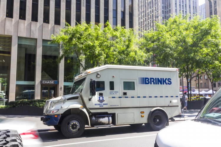 The Brink's Company, Brinks BCO Safe Truck Heist Money shutterstock_405208039