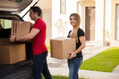 adult, attractive, beautiful, boxes, boyfriend, brunette, car, cardboard, carrying, casual, copy space, copyspace, couple, cute, dyed, eye contact, girlfriend, handsome, happy, hispanic, home, house, husband, latin, lifestyle, loading, man, married, mortgage, moving, new, newlyweds, outdoor, partner, pretty, property, real estate, relationship, relocation, smile, suburbs, together, trunk, two, unloading, wife, woman, young adult