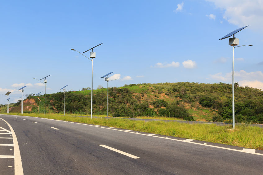 brazil, cables, countryside, csp, electric pole, electricity, field, grid, highway, hot water, illumination, industrial, innovation, lamp, light, lighting, lines, panel, photoelectric effect, photovoltaic module, post, power plant, renewable energy, road, rural, sky, solar energy, solar power, summer