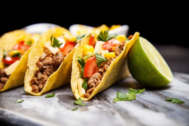 Del taco Restaurants, TACO, 47088504 - mexican food - delicious tacos with ground beef