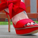 Red stilettoes