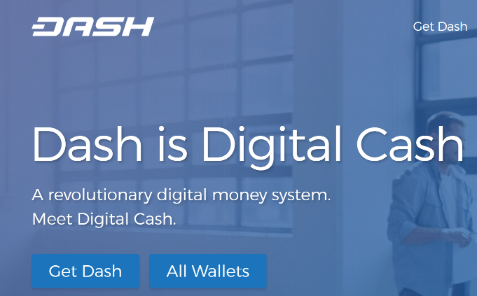 Screenshot from Dash.org