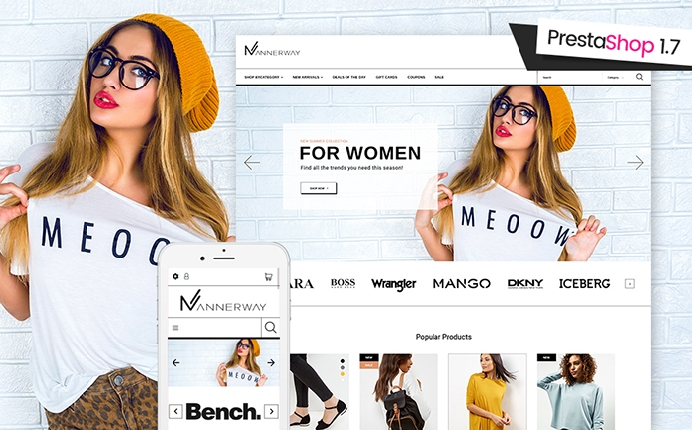 Trendy Mannerway Fashion Clothes PrestaShop Theme