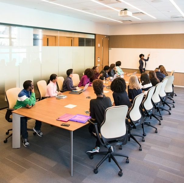 Employee Training people having meeting inside conference room